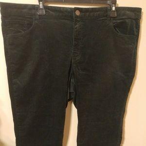 Loft Curvy Skinny Green Corduroy Pants Size 18